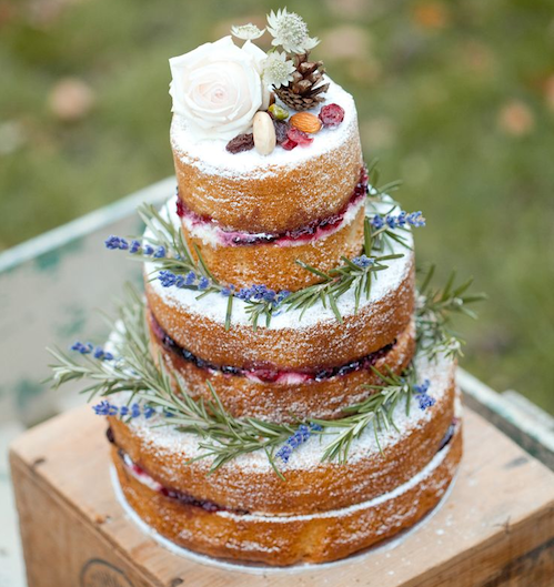 French Made - 'Naked' cake
