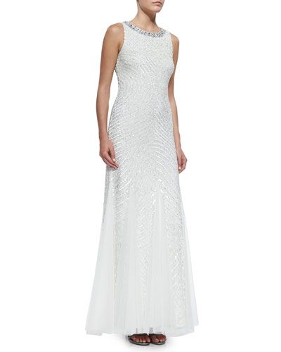 Aidan Mattox_Sleeveless Beaded Gown_front